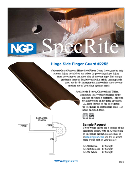 Hinge Side Finger Guard 2252